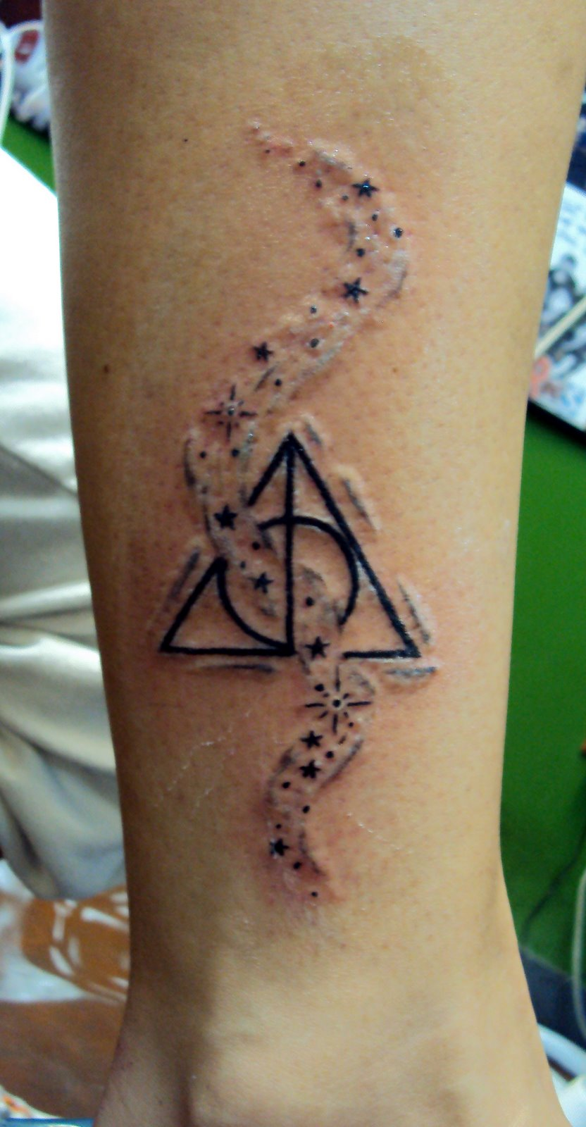 Latest gold necklace 30 cute deathly hallows symbol tattoo 30 cute deathly hallows symbol tattoo buycottarizona