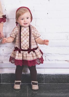 vestido y capota niña dolce petit