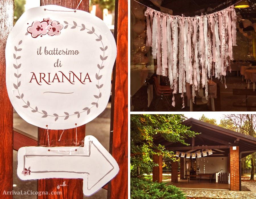 Arriva la cicogna festa di battesimo in stile shabby chic per arianna - Decorazioni per battesimo bimba ...