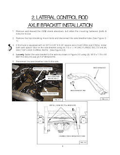 FORD LATERAL CONTROL ROD AXLE BRACKET INSTALLATION