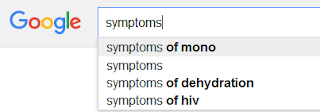 Google search results for health symptoms search query
