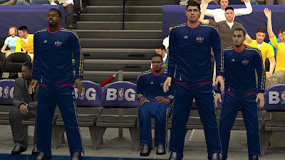NBA 2K13 NOLA Pelicans Navy Blue Warmup Uniforms