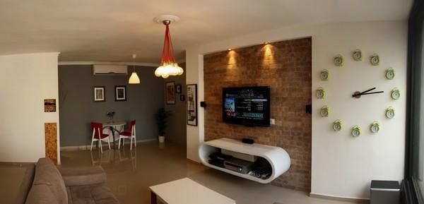 decoracao de apartamentos pequenos rustico : decoracao de apartamentos pequenos rustico:Apartamento Pequeno Decorado Barato e Rustico em Israel – Casa e