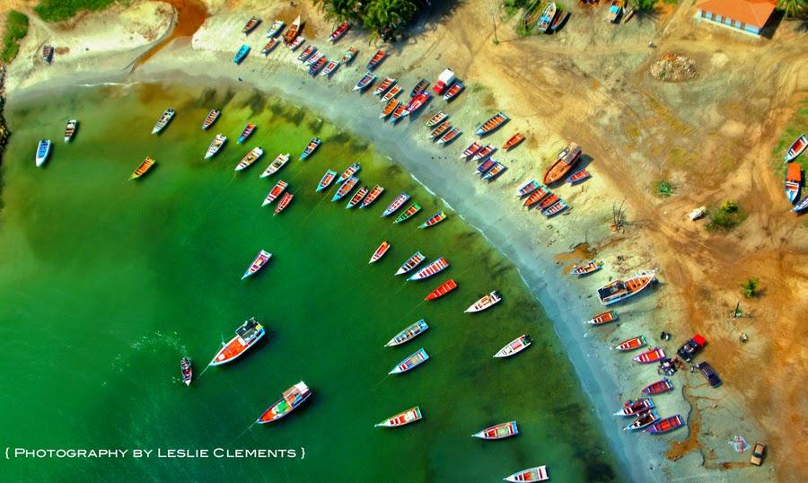 Margarita Island Boats, Venezuela By Leslie Clements Parrott