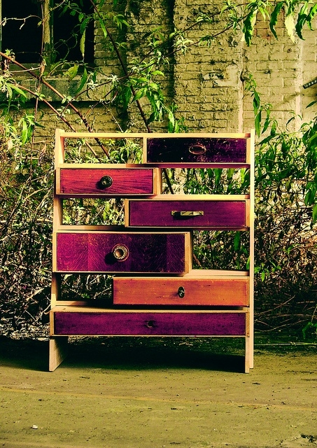 These funky drawers are out of box and perfect for any type of storage.