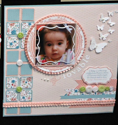 Lovable Baby Scrapbook Page