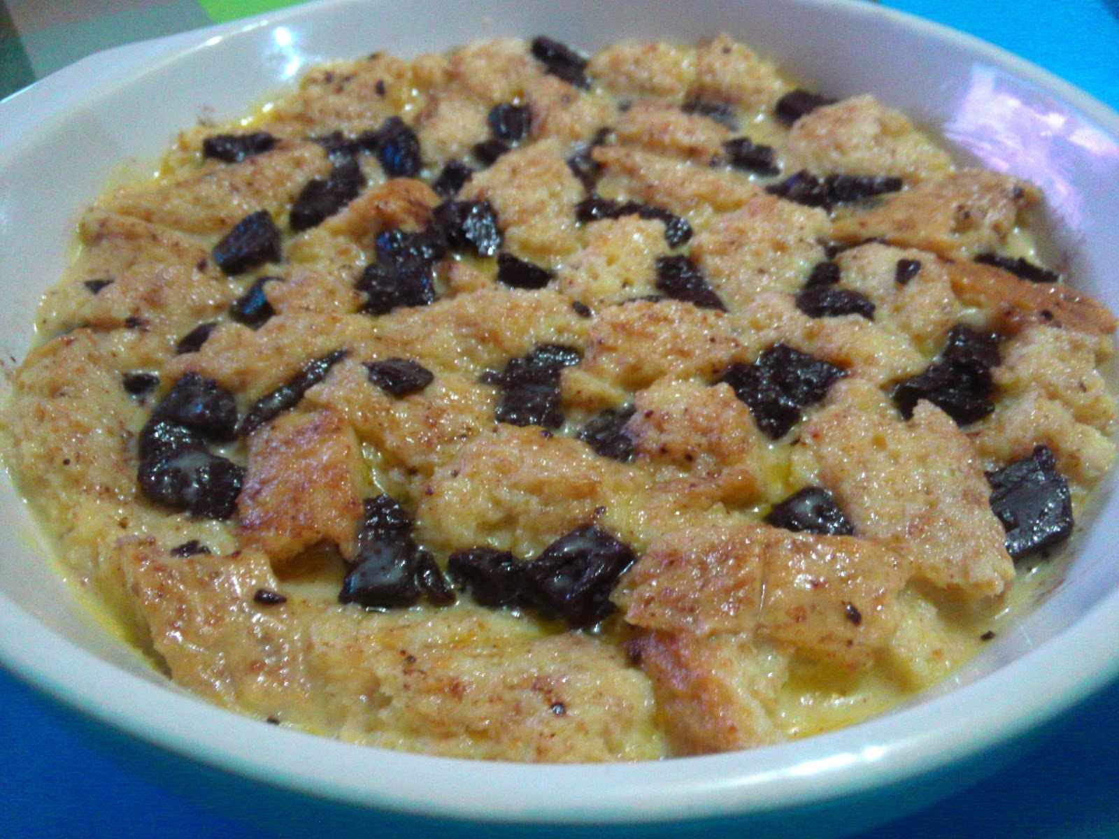 SIMPLE CHOCOLATE MARBLE BREAD PUDDING  AprilEatsGuilty