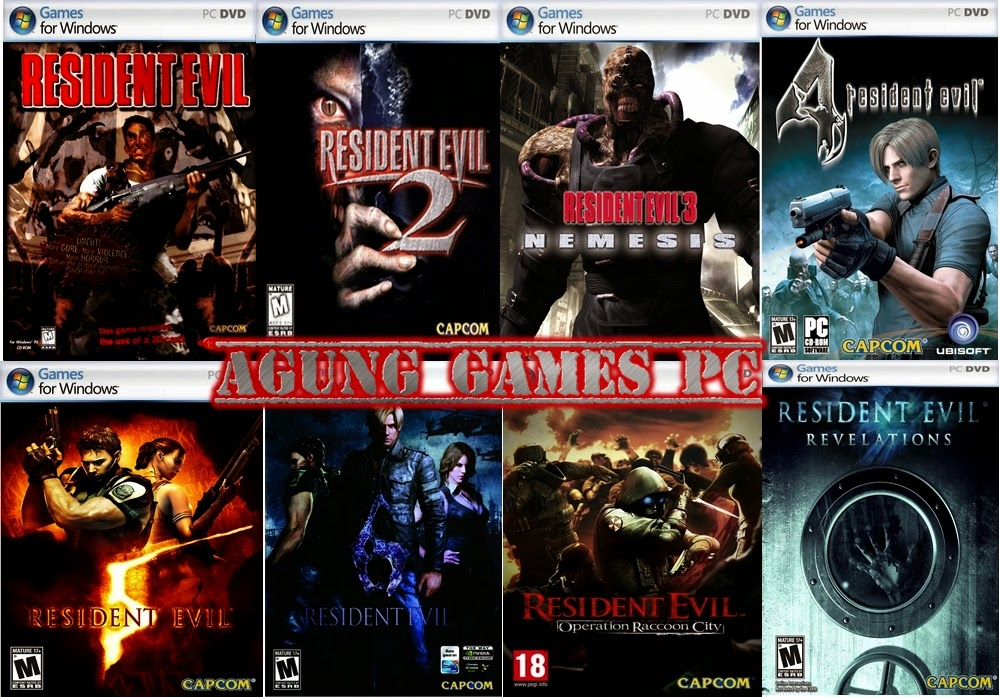 Collection Resident Evil (Resident Evil1, Resident Evil2, Resident Evil3, Resident Evil4, Resident Evil5, Resident Evil6, Resident Evil Operation Raccoon City, Resident Evil Revelations) -PC  Free Download