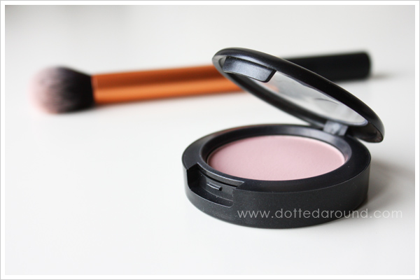 MAC Pink Cult blush, Real Techniques brush