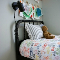 Salvaged Jenny Lind Bed