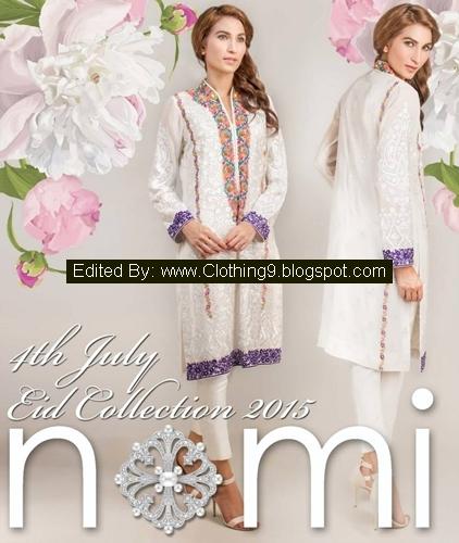 Nomi-Ansari Luxury Pret Eid Dresses Designs 2015