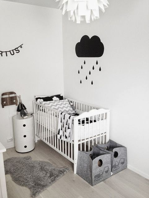 Scandinavian Style, black and White nursery