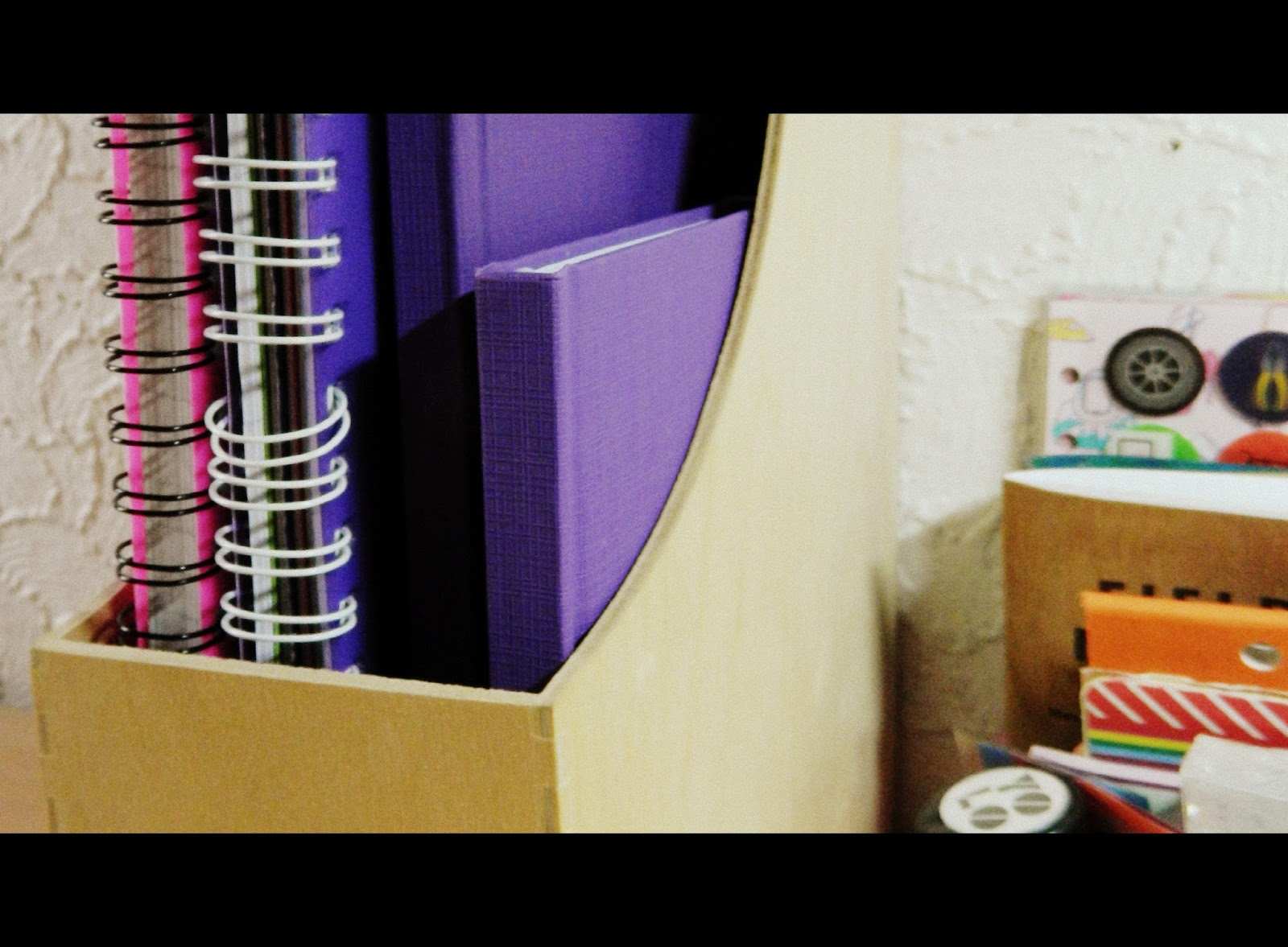 spiral bound notebooks, purple journals
