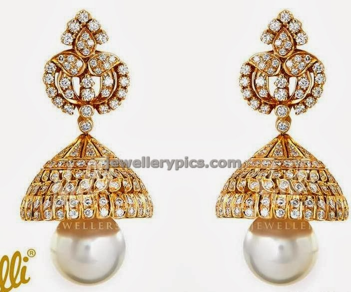big diamond  jumka by nalli