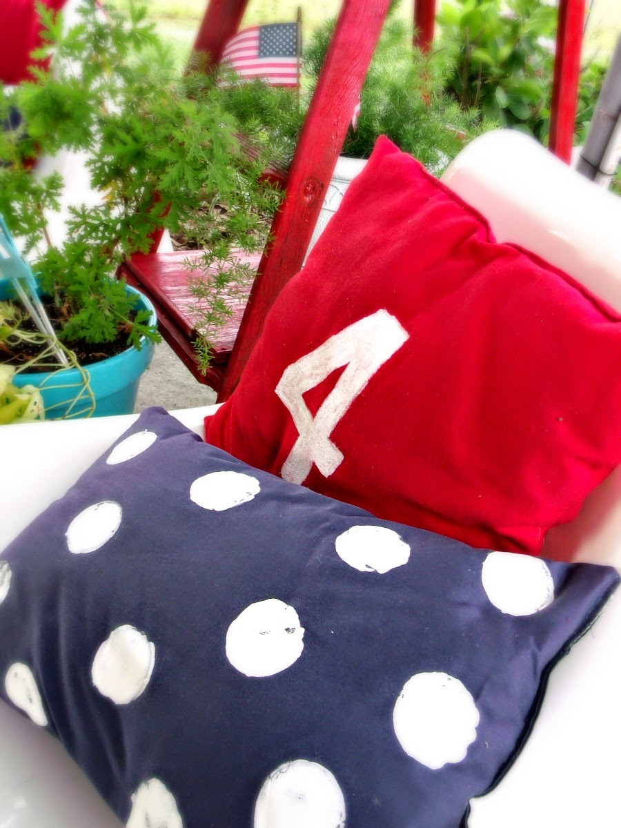 DIY Painted Pillows