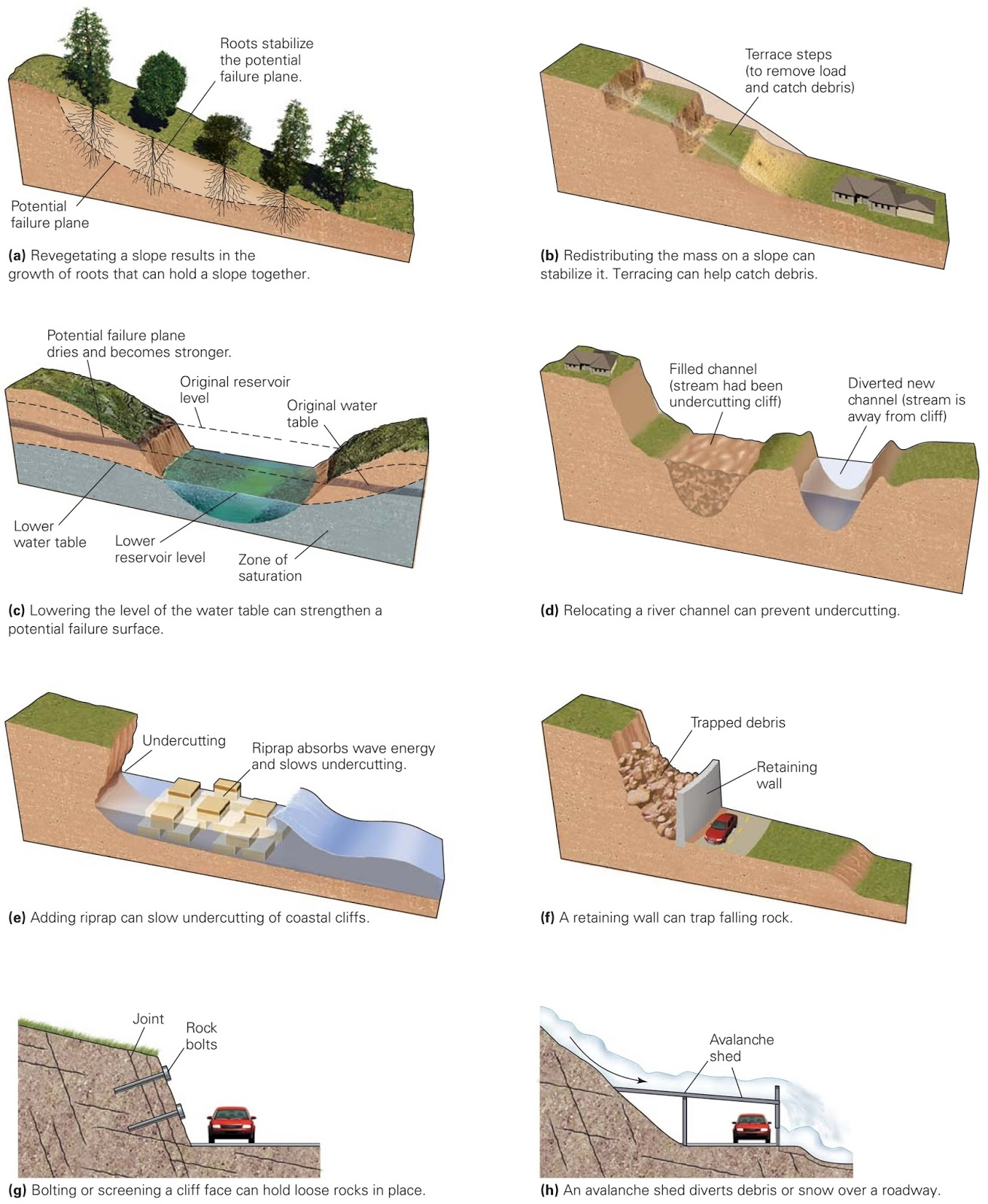 mass wasting Mass wasting is caused by weathering and gravity mass wasting is when soil, rock and sediment move downslope in a mass, usually due to the forces of gravity pulling weathered rock.