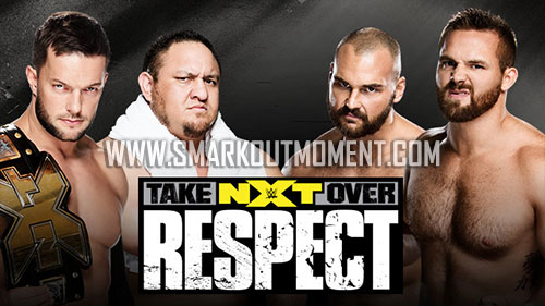 WWE NXT TakeOver Respect Finn Balor Samoa Joe vs Scott Dawson Dash Wilder