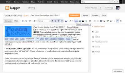 Cara Upload Gambar Agar Valid HTML 5