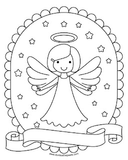 free print and color angel- available with 5 hair styles and in transparent png and jpg formats