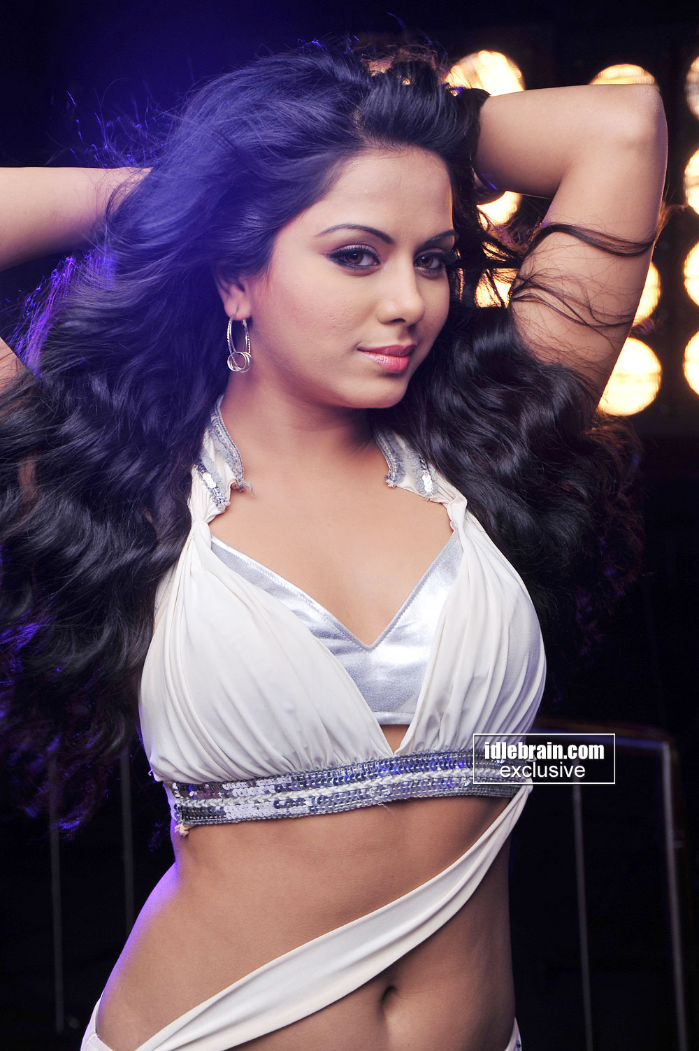 Rachna Mourya white bikini bra top  -  Rachana Mourya Item Song HOT PICS