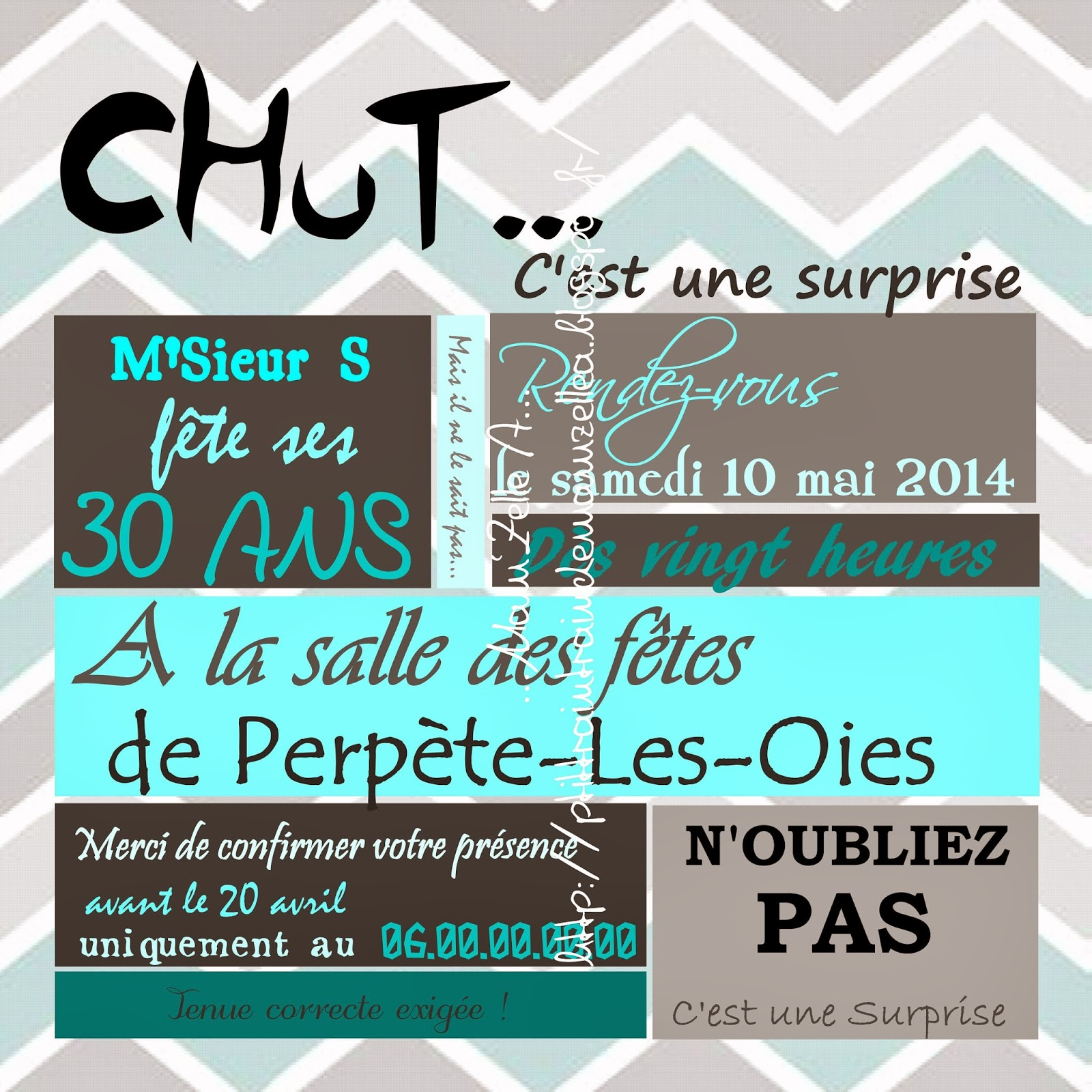 Très Wonderful Carte D Anniversaire Surprise #1: Invitation  MX31