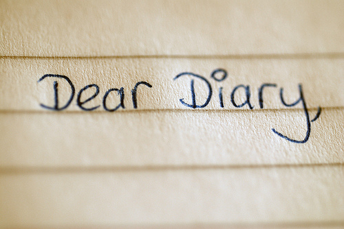 What do you write in a diary?