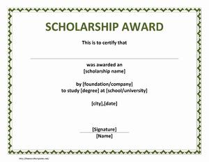 Scholarship award certificate templates word yadclub Image collections