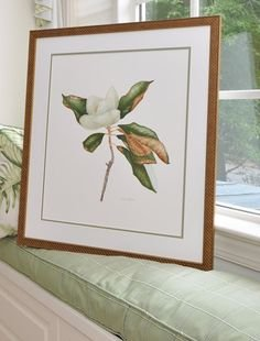 MAGNOLIA GRANDIFLORA ORIGINAL BOTANICAL  WATERCOLOR