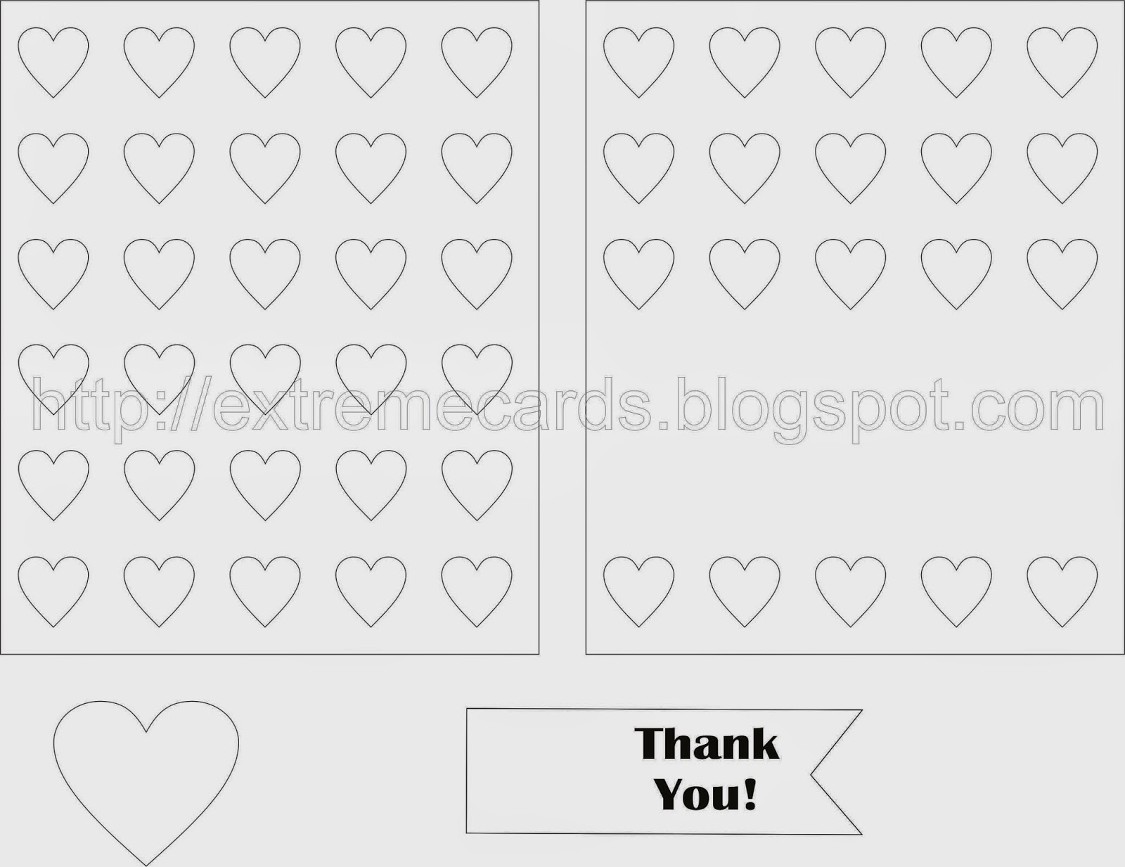 heart background thank you or valentine