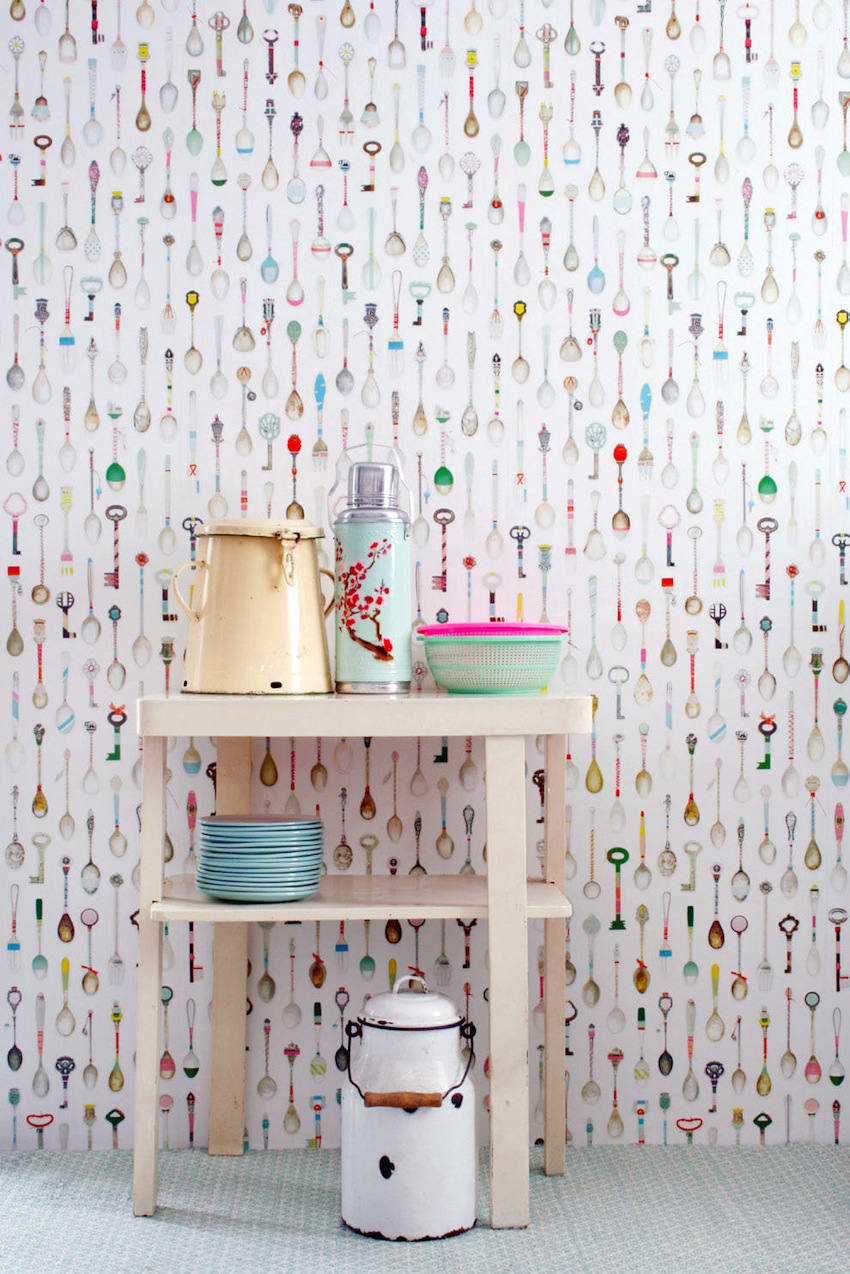 Cosas de palmichula colocando papel pintado parte i for Papel para tapizar paredes