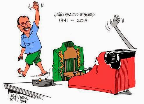 João Ubaldo Ribeiro, Cartoon, Latuff
