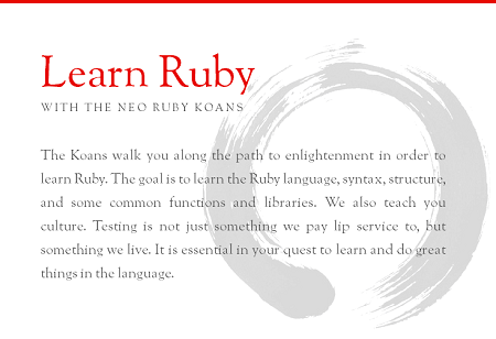 Learn Ruby with the Neo Ruby Koans