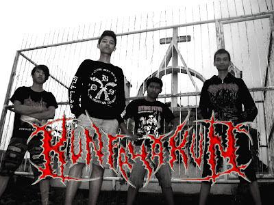 Kunfayakun Band Harmonic Death Metal / Deathcore Nganjuk Jawa Timur Indonesia Foto Personil Logo Artwork Wallpaper