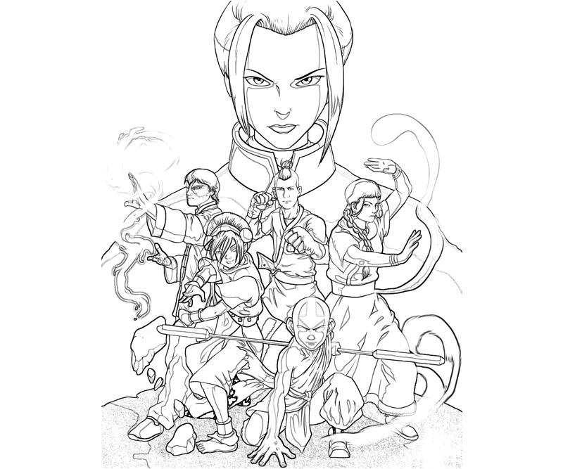 printable avatar sokka character_coloring pages