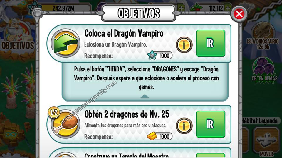 Gemas Gratis tambien en la aplicacion de Dragon City Para Ipad y