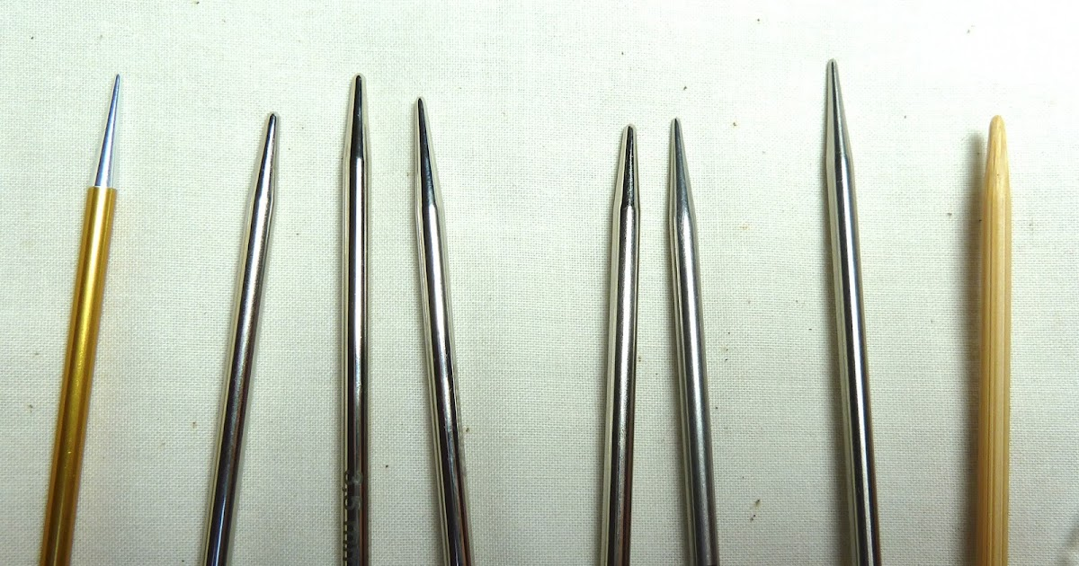 Knitting Needles No : Circular knitting needle comparison