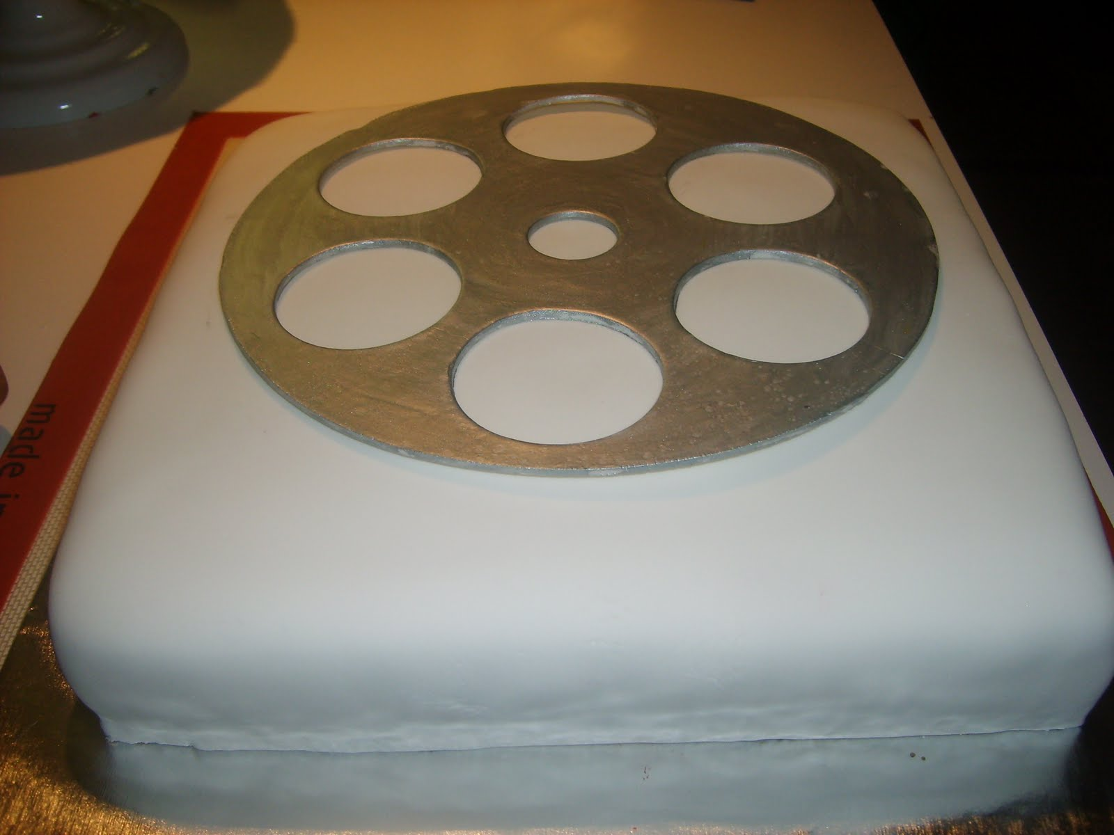 Cake With Photo Reel : Movie Night Cake Tutorial The Cake Creator