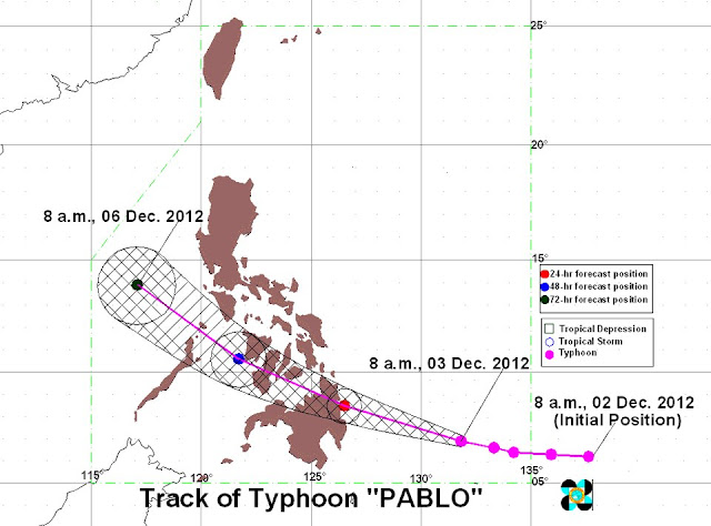 Bagyong Pablo Update: December 3, 2012