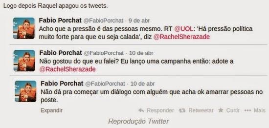 Rachel Sheherazade deixa Fábio Porchat falando sozinho no Twitter
