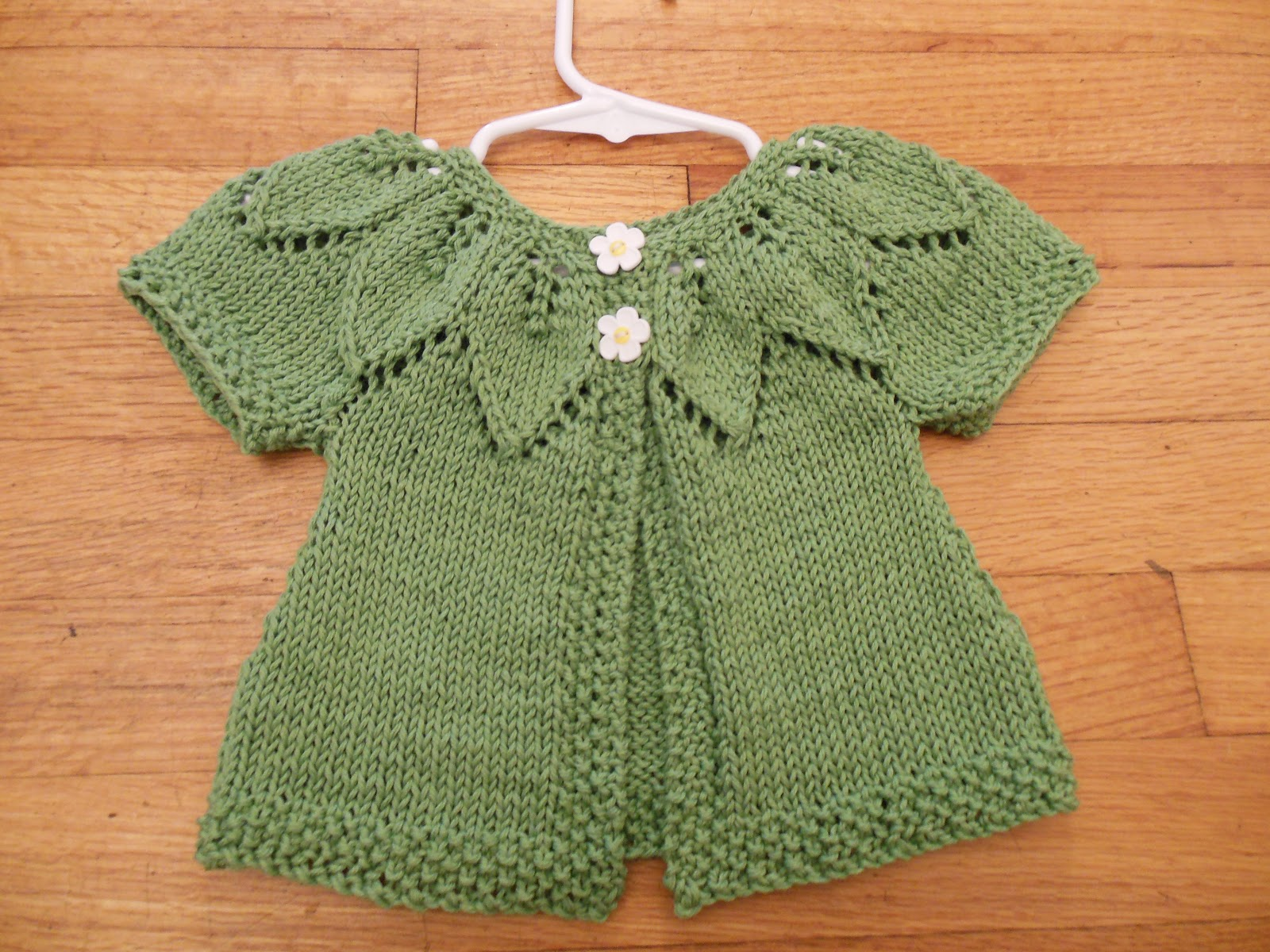 Baby Girl Sweater Patterns Knitting : Natural State Knitting: Baby Leaf Sweater