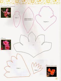 Выкройки цветов. Фоамиран.