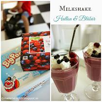Milkshake med hallon och blåbär