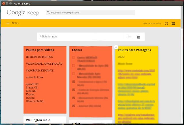 Google Keep Ubuntu