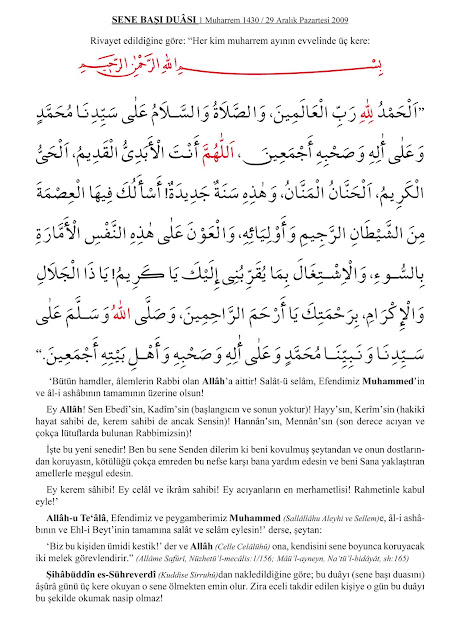 senebaşı+duası
