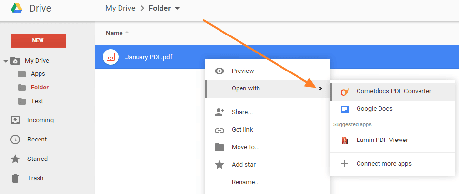 how to convert your pdf inside google drive