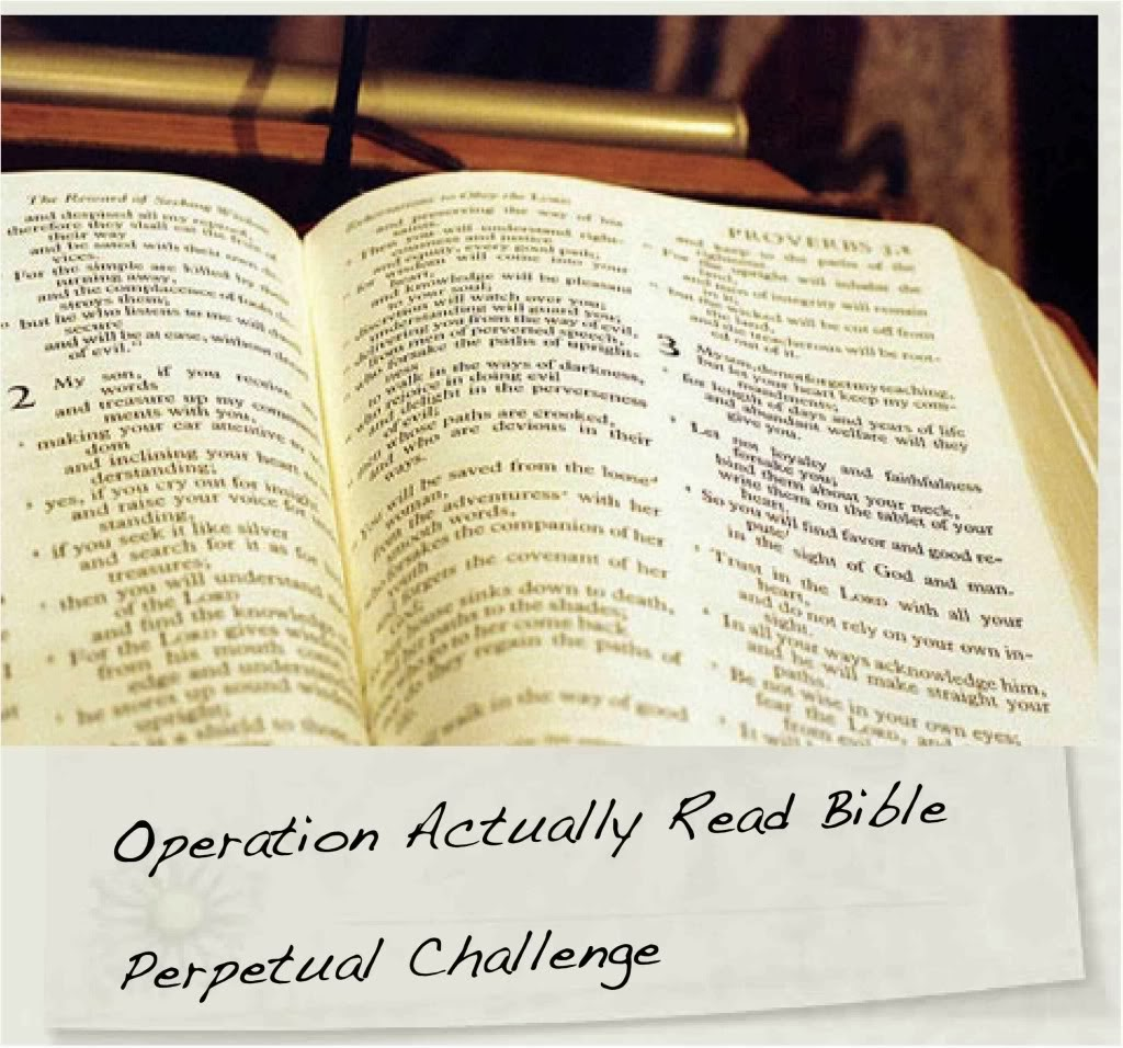 Operation Actually Read Bible Perpetual Challenge