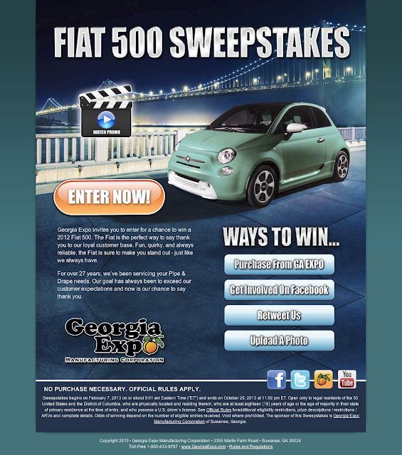 Win a fiat 500 sweepstakes