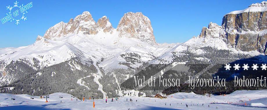 Lyžovanie Val di Fassa