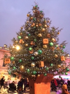 Pic of Fortnum & Mason's decorated Christmas Tree at Somerset House, London