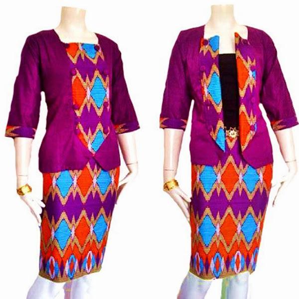 Blazer Tenun Ikat Rang Rang 10 Model Baju Kerja Baju Baju Gamis